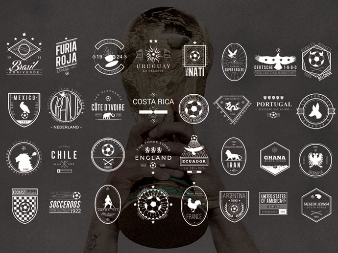 32-National-Team-badges-by-Naniii - 50+ Fantastic BEST FREE Typographic Logo Badge Designs