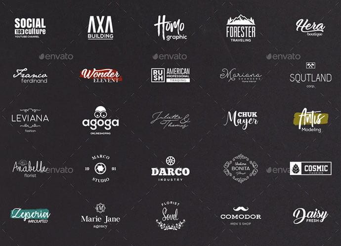 50-Minimalist - 31+ Awesome Watermark Photographer Logo Templates [year]