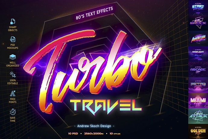 80's-Retro-Text-Effects-vol.2 - 35+ Awesome Poster Design For Photoshop Actions [year]