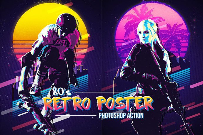 80s-Retro-Poster - 35+ Awesome Poster Design For Photoshop Actions [year]