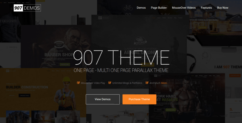 907 - 41+ Awesome Parallax Landing Page Themes [year]