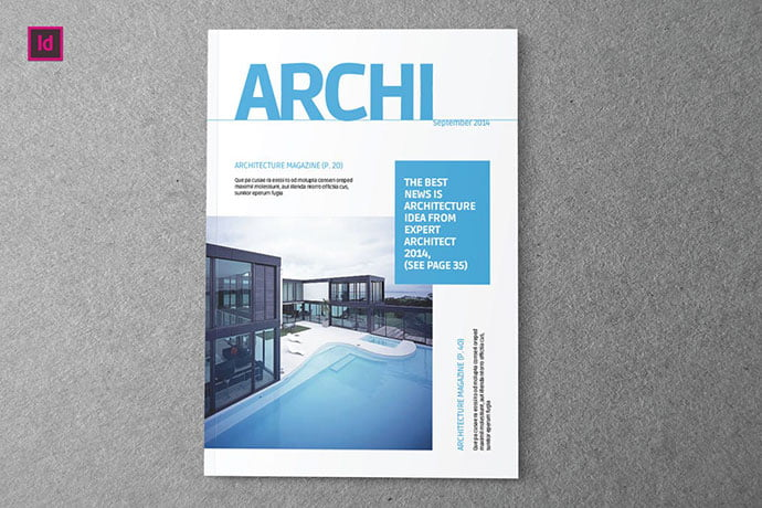 ARCHI - 50+ Awesome Interior Magazine InDesign Templates [year]