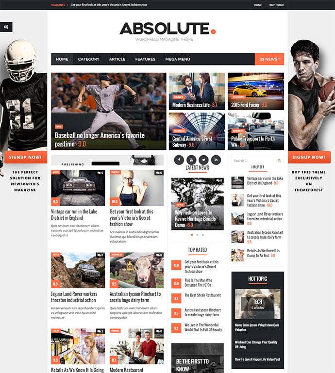 Absolute - 45+ Magazine & Blog WordPress Themes To Make Your Website [year]