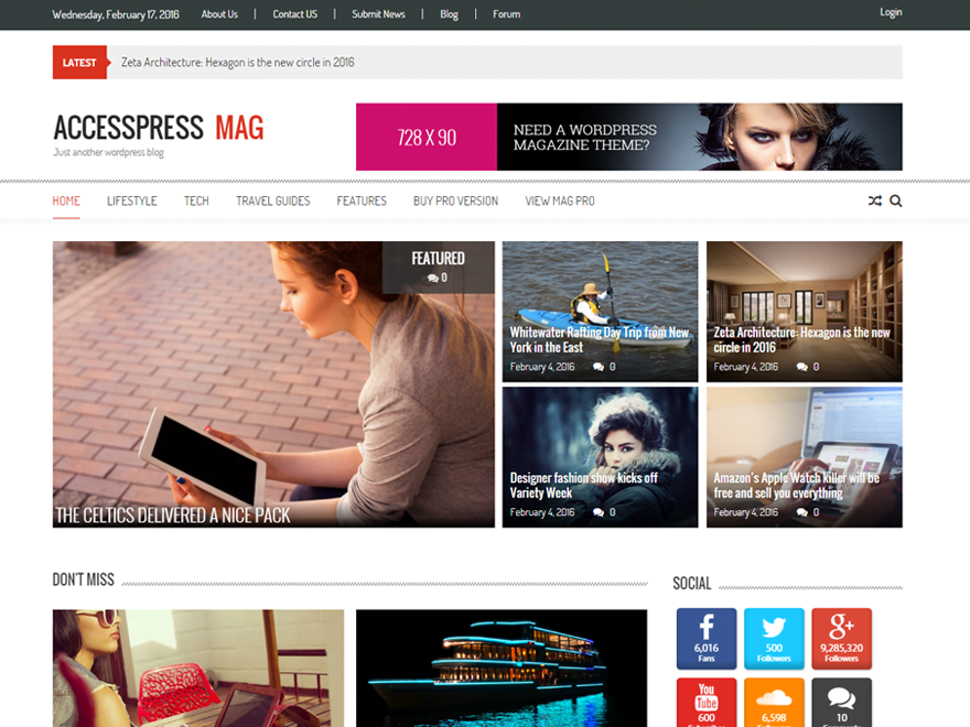 Accesspress-Mag - 61+ Free Creating Responsive WordPress Themes [year]