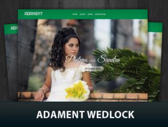 Adament-wedlock - 18+ Best Free Wedding WordPress Themes