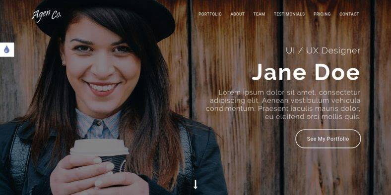 Agen - 36+ Best One Page Modern and Creative HTML Templates [year]
