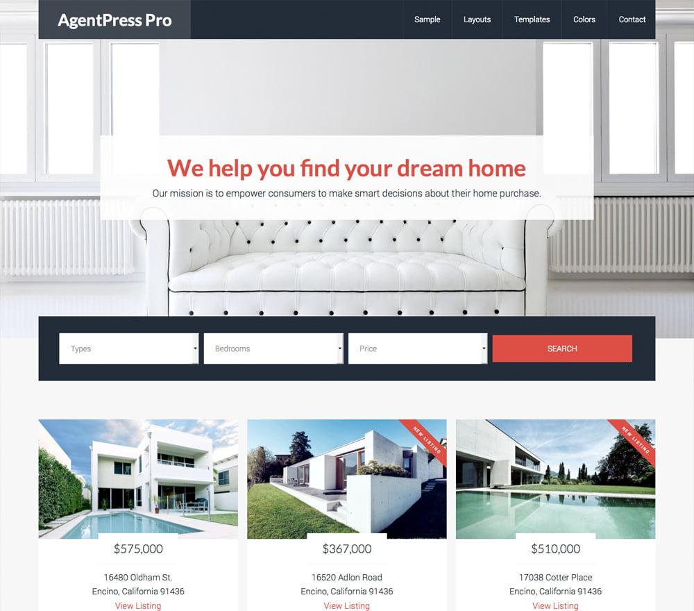 AgentPress-Pro - 36+ Best WordPress Real Estate Themes [year]