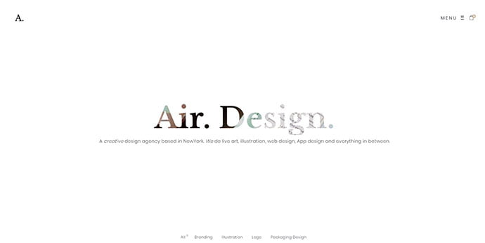 Air - 30+ Stunning Typography Portfolio WordPress Themes