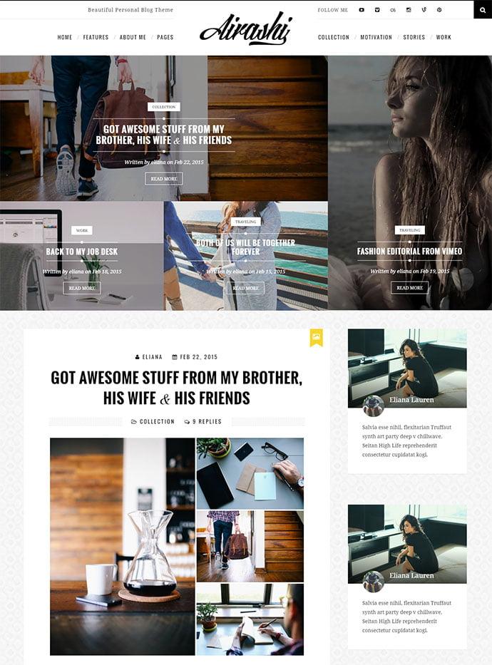 Airashi-1 - 45+ Magazine & Blog WordPress Themes To Make Your Website [year]