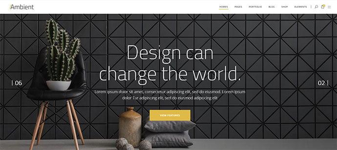 Ambient - 36+ Amazing WordPress Themes For Architect Portfolio [year]