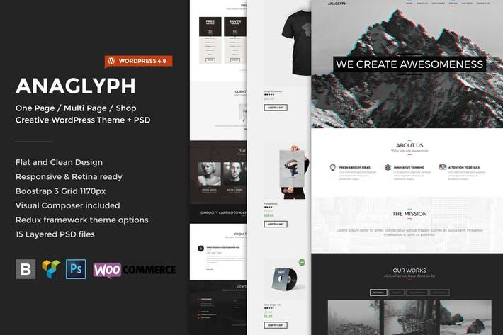 Anaglyph - 50+ Best Portfolio WordPress Theme Design [year]