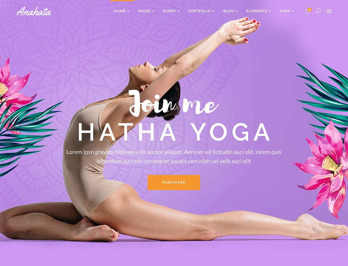 Anahata - 32+ Best WordPress Themes For Yoga [year]