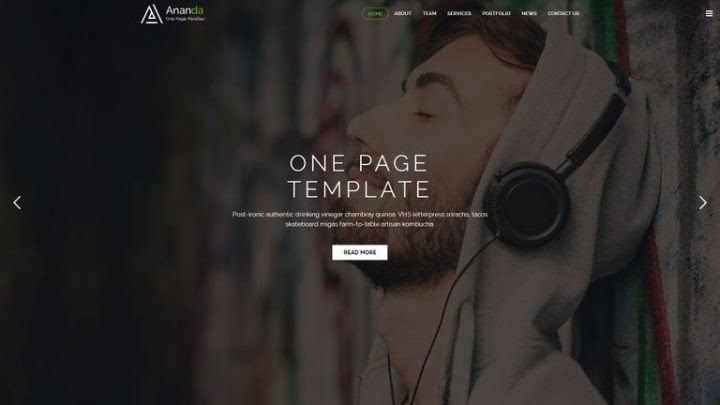 Ananda - 41+ Awesome Responsive HTML5 Web Templates [year]