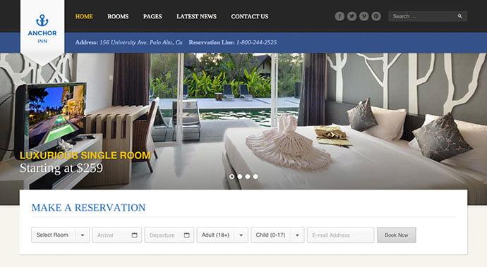 Anchor-Inn - 30+ Amazing Resorts & Hotels WordPress Themes [year]
