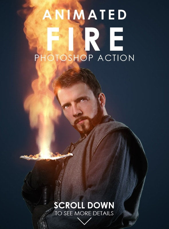 Animated-Fire - 35+ Awesome Animated GIF Photoshop Actions [year]