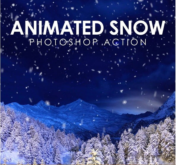 Animated-Snow - 35+ Awesome Animated GIF Photoshop Actions [year]