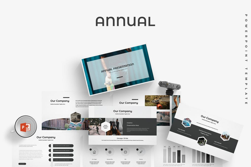 Annual-1 - 35+ Attractive Annual Report Powerpoint Templates [year]