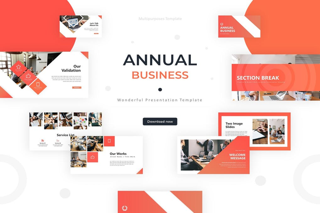 Annual-Business - 35+ Attractive Annual Report Powerpoint Templates [year]