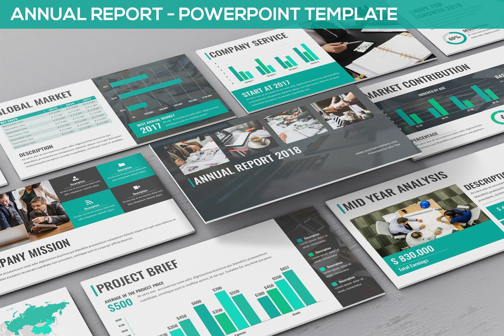 Annual-Report - 35+ Attractive Annual Report Powerpoint Templates [year]