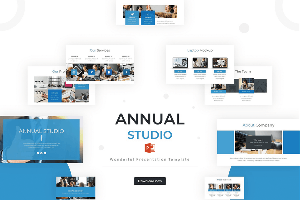 Annual-Studio - 35+ Attractive Annual Report Powerpoint Templates [year]