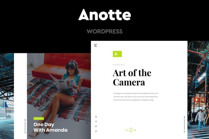 Anotte - 50+ Best Portfolio WordPress Theme Design [year]