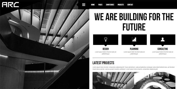 Arc - 36+ Amazing WordPress Themes For Architect Portfolio [year]