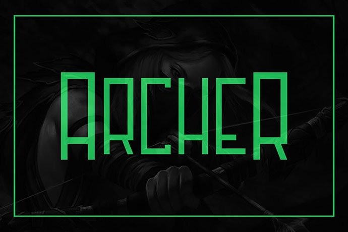 Archer - 30+ Awesome BEST Square based Geometric Fonts [year]