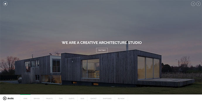 Arctic - 36+ Amazing WordPress Themes For Architect Portfolio [year]
