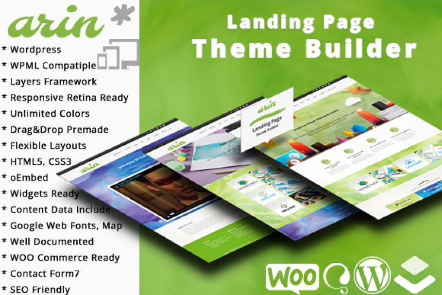 Arin - 37+ Amazing Best WordPress Landing Page Themes [year]