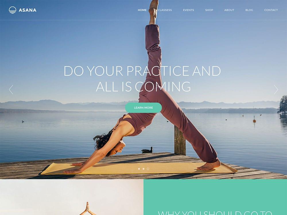 Asana - 32+ Best WordPress Themes For Yoga [year]