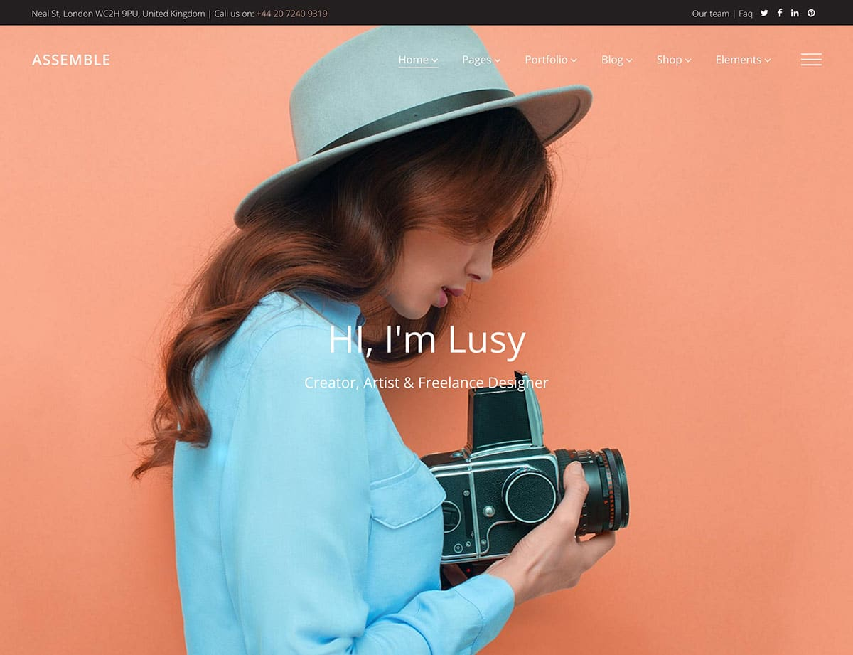 Assemble - 31+ Best Freelancers WordPress Themes [year]