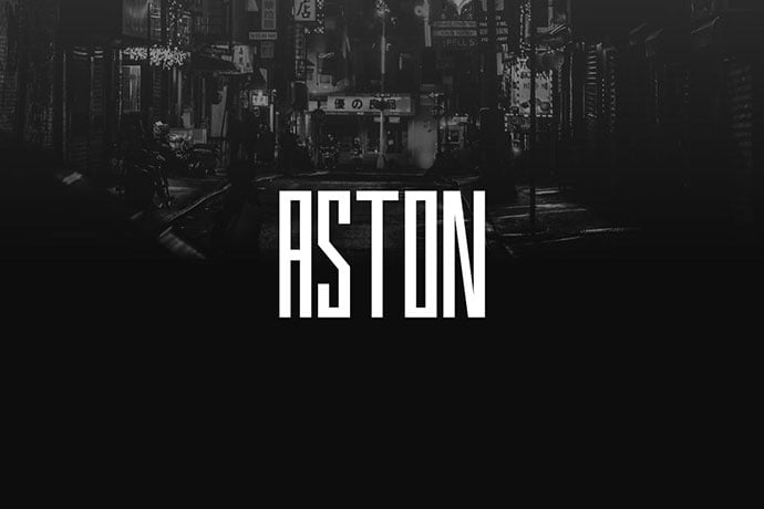 Aston - 30+ Awesome BEST Square based Geometric Fonts [year]