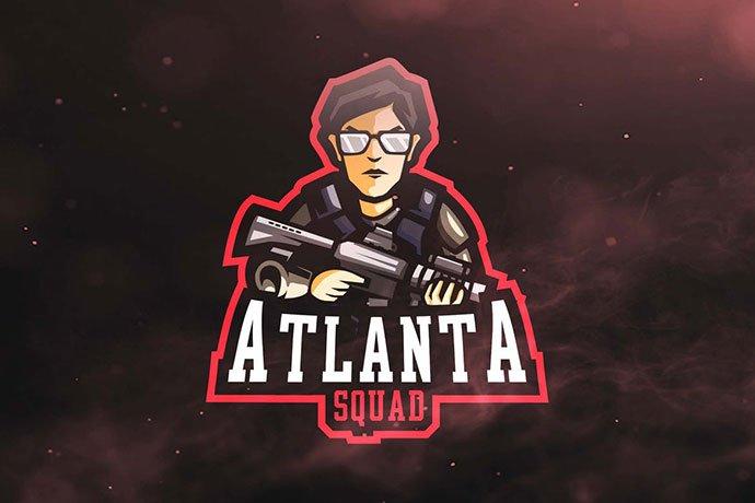 Atlanta-Squad - 60+ Personal & Team Branding AI & EPS eSports Logo Templates [year]