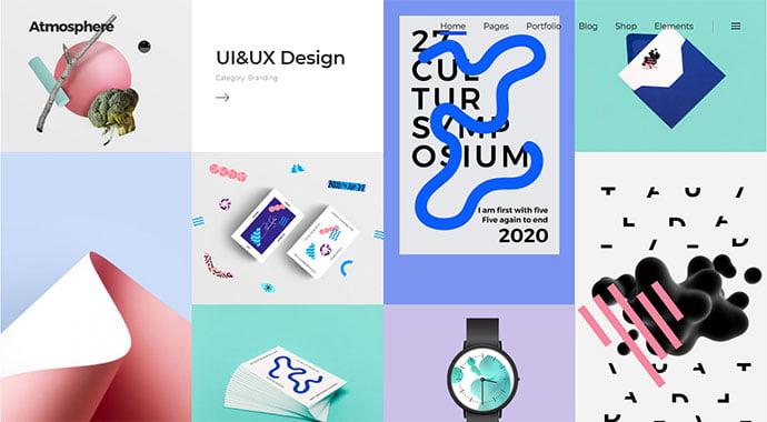 Atmosphere - 31+ Impressive Big Fonts & Bright Colors WordPress Themes [year]