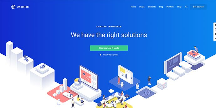Atomlab - 30+ BEST Blue WordPress Themes [year]