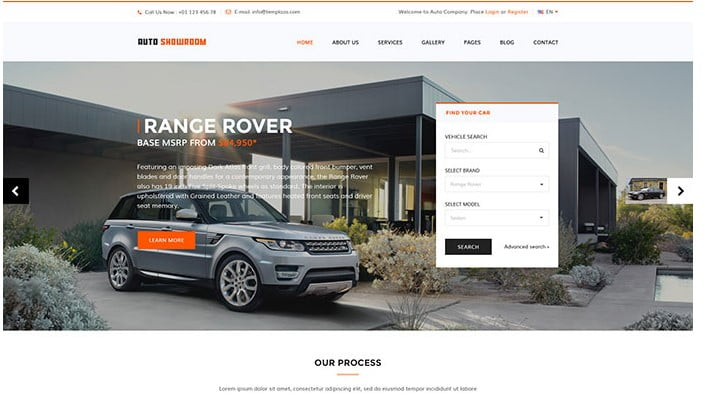 Auto-Showroom - 36+ Top WordPress Vehicle & Transportation Themes [year]