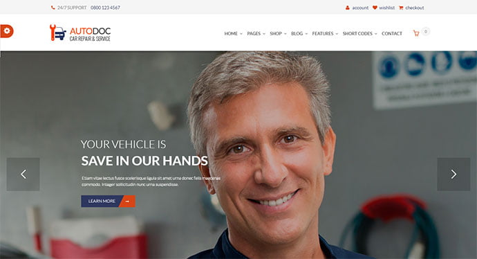 AutoDoc - 36+ Top WordPress Vehicle & Transportation Themes [year]