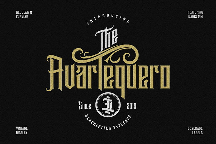 Avartequero - 30+ Marvelous Gothic Blackletter Fonts [year]