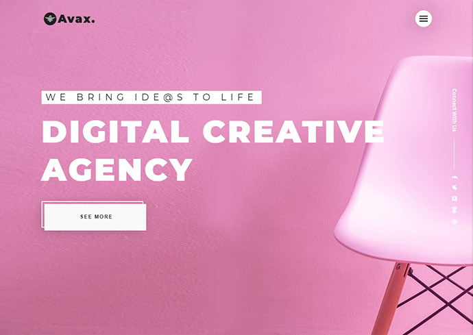Avax - 35+ Awesome Twitter Bootstrap Portfolio Site Templates