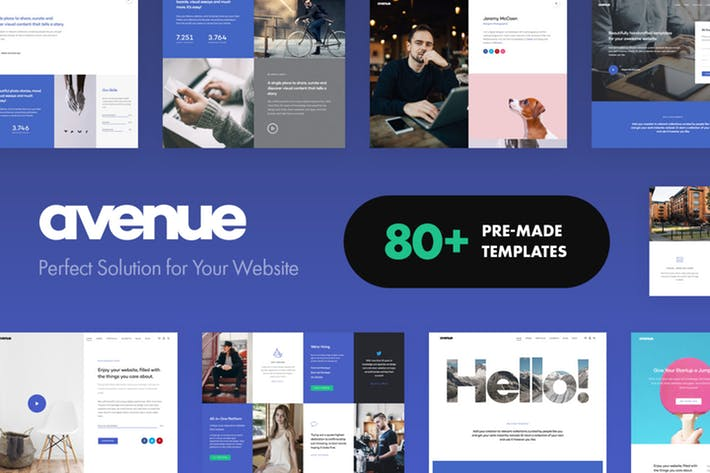 Avenue - 50+ Best Portfolio WordPress Theme Design [year]
