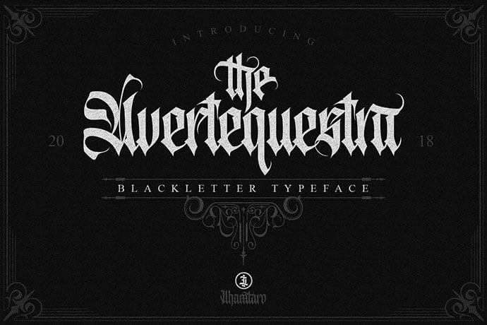 Avertequestra - 30+ Marvelous Gothic Blackletter Fonts [year]