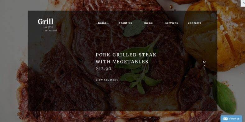 BBQ-Restaurant - 41+ Stunning Restaurant Website HTML5 Templates [year]