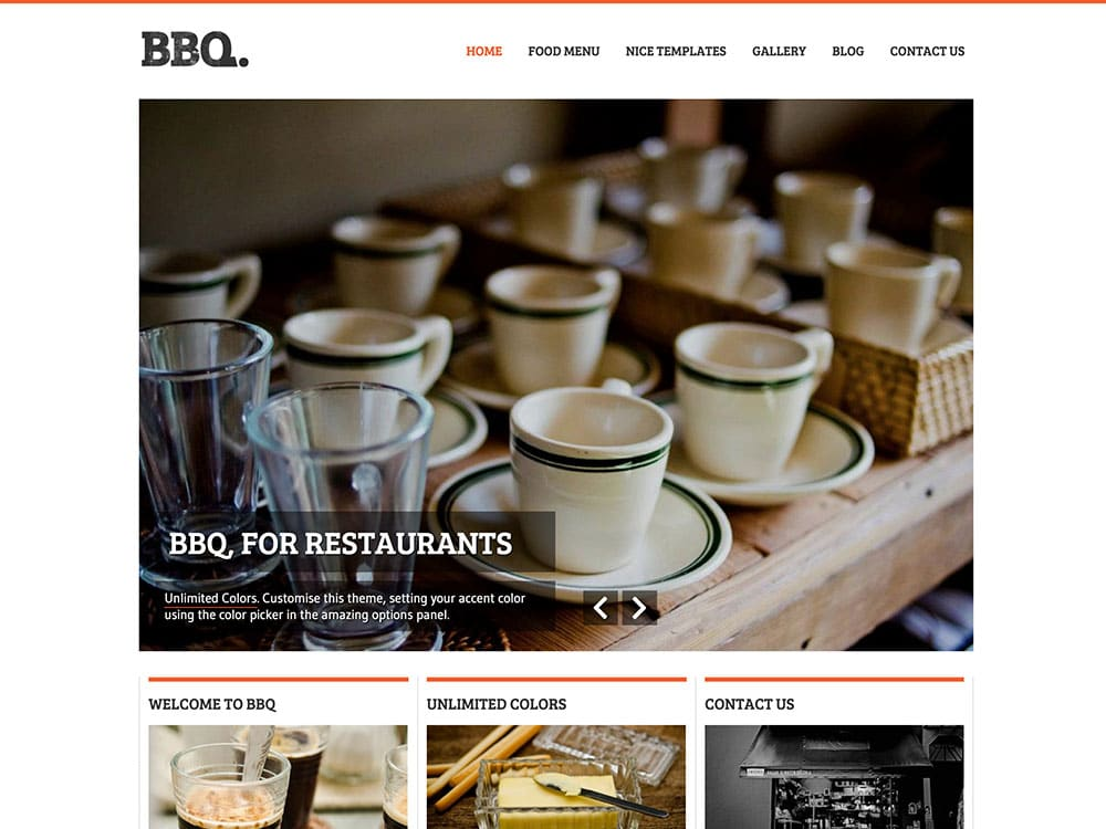 BBQ-restaurant-theme - 51+ Best Restaurant WordPress Themes [year]