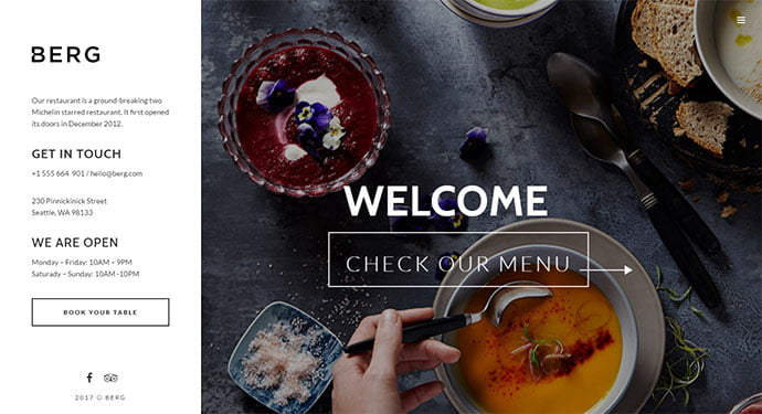 BERG-1 - 30+ Excellent E-commerce WordPress Themes For Food & Drink [year]