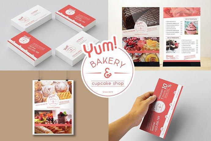 Bakery-Cupcake-Shop-1 - 35+ NICE Cake and Bakery Menu Design [year]