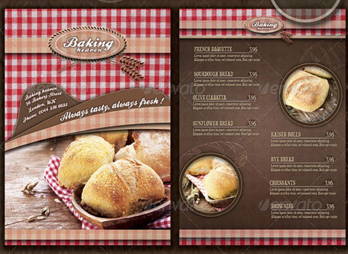 Bakery-Flyer-Menu-Template-Photos-Included - 35+ NICE Cake and Bakery Menu Design [year]