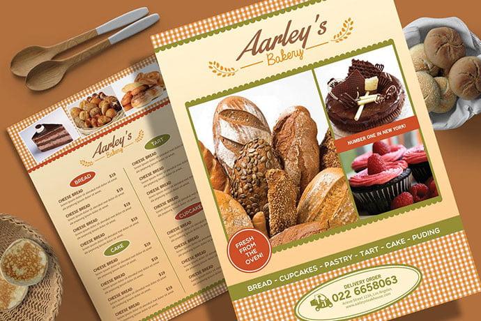 Bakery-Menu-Flyer - 35+ NICE Cake and Bakery Menu Design [year]