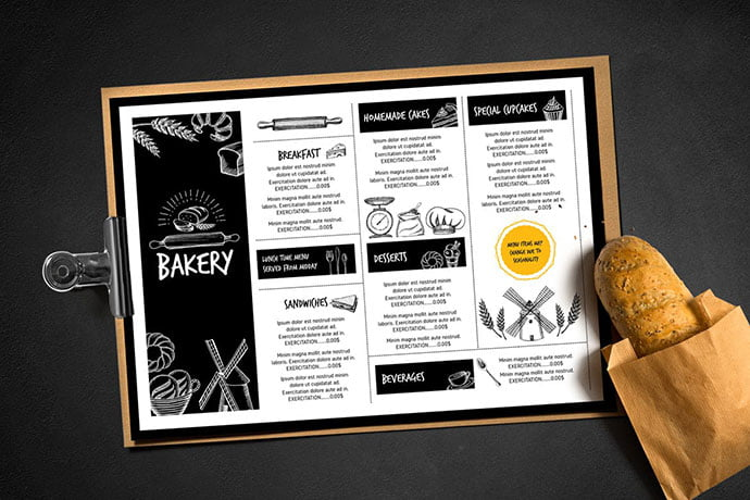 Bakery-Menu-Template - 35+ NICE Cake and Bakery Menu Design [year]