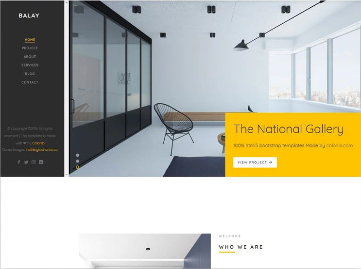 Balay - 77+ Best Free HTML & CSS Clean Simple Website Templates [year]