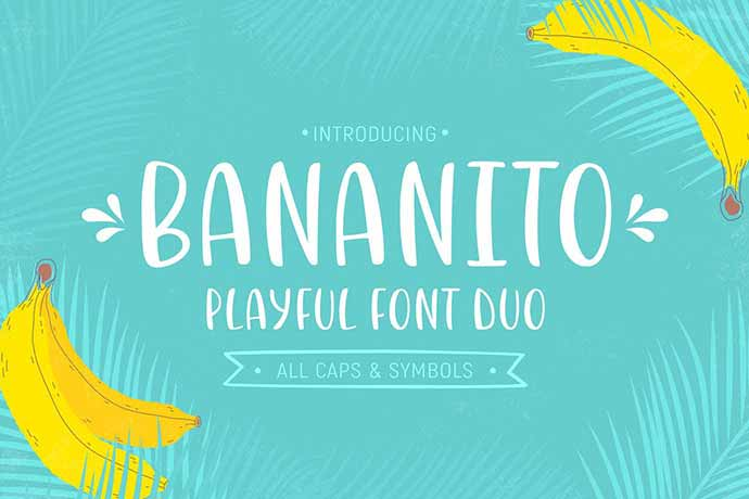 Bananito-Font-Duo - 51+ Stunning Travel Theme Designs Fonts For Your Website [year]